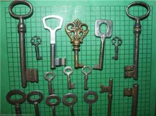 21 Old Antique Skeleton Keys Imported France Germany