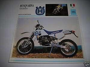 SCHEDA HUSQVARNA 610 ENDURO 1991