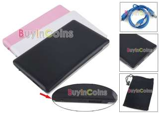 HDD Hard Drive External Enclosure Ultra Slim 2.5 Inch SATA HDD Case #7