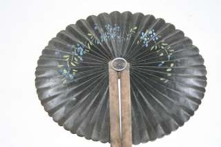 Antique Hand Painted Chinese Round Folding Fan