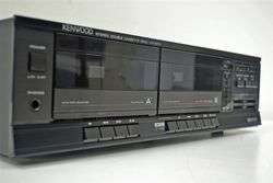 Kenwood Stereo Dual Cassette Deck Tape Player Recorder KX 57W