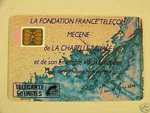 Télécarte 50 Fondation La Chapelle Royale