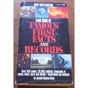 in the United States (9780824200152): Joseph Nathan Kane: Books