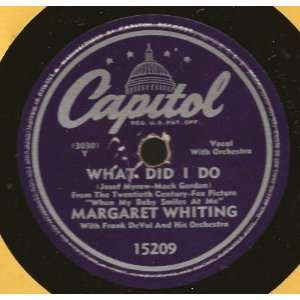 What Did I Do / Heat Wave (10 78rpm): Margaret Whiting: Music