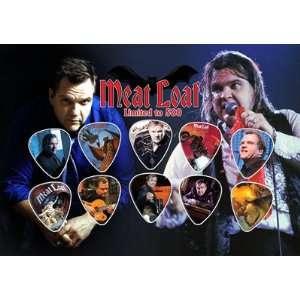 Meat Loaf Signed Autographed 500 Limited Edition Guitar Pick Set