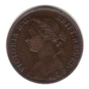 Britain England Farthing Coin KM#753   Queen Victoria
