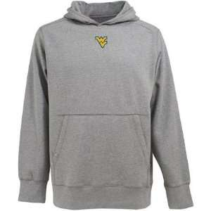 West Virginia Signature Hooded Sweatshirt (Grey) Sports