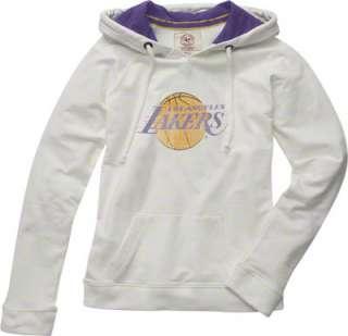 Los Angeles Lakers Womens White 47 Brand On Deck Hooded Sweatshirt