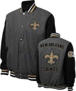 New Orleans Saints Grey Wool Varsity Jacket