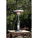 Well Traveled Living Table Top Patio Heater   Stainless Steel