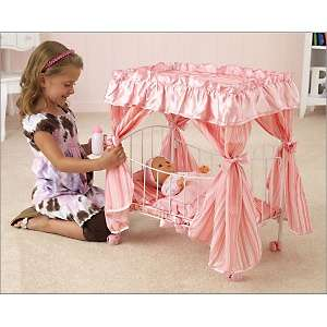 DollKraft by KidKraft Comfy & Cozy Canopy Doll Bed at HSN