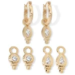 MichaeLisa Jewelry Designs® Tulum Charm Design Hoop Earrings with