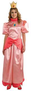Womens Princess Peach Costume   Nintendo Super Mario Brothers Costumes