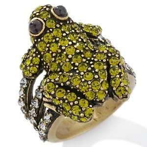 Heidi Daus Pave Frog Crystal Ring