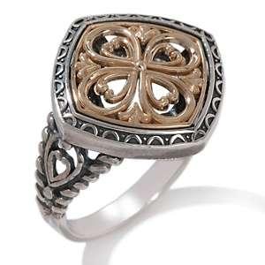 Michael Anthony Jewelry® Diamond Shaped Flower Ring