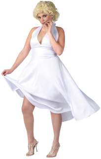 Marilyn Monroe Classic White Dress Plus Size Costume