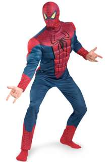 The Amazing Spiderman Spider Man Movie Classic Muscle Adult Costume