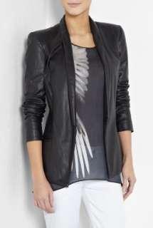 Helmut Lang  Black Baby Matte Leather Blazer by Helmut Lang