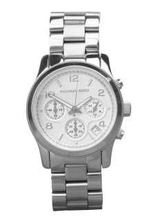 Steel chronograph Watch by Michael Kors Watches   Metallic   Buy