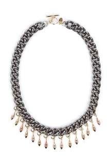 Anton Heunis  Bell Chain Black Spike Necklace by Anton Heunis