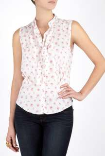 Paul Smith Black  Sleeveless Rose Print Shirt by Paul Smith Black