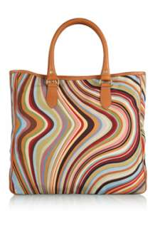Canvas Swirl Tote by Paul Smith Accessories   Multicoloured   Buy Bags