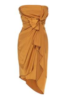 Copper Strapless Knot Cocktail Dress by Jasmine Di Milo   Copper   Buy