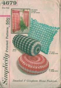 Smocked Bolster Square Round Rectangle Throw Pillow Sewing Pattern