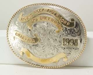 Navajo Bull Riding Rodeo Trophy Buckle,