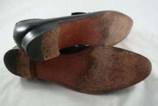 Vintage Mens Black Leather Dress Slip On Loafers Size 10AAAA