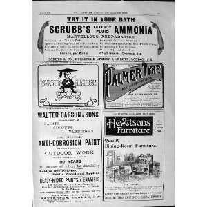 1901 Advertisement ScrubbS Ammonia Palmer Tyre Walter