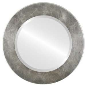 in Silver Leaf with Brown Antique Mirror and Frame