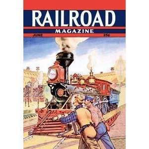 Vintage Art Railroad Magazine Working on the Railroad, 1943   06102 2