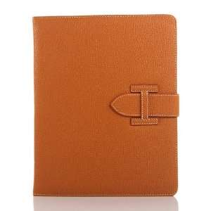 ZuGadgets Brown Leather Folio / Flip Stand Case Cover for Apple