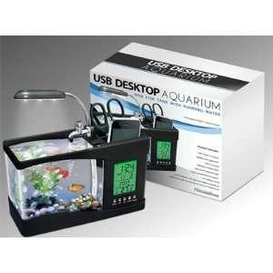 Fish Tank W/ Running Water Multifunction Penholder