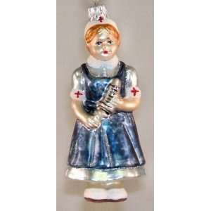 Hospital Nurse Polish Glass Christmas Tree Ornament