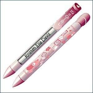 Girl Baby Shower Favor Pen w  Pink Teddy Bears & Blocks