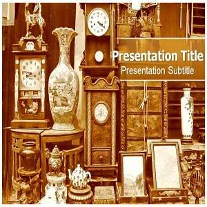 Antique PowerPoint Template   Backgrounds on PowerPoint