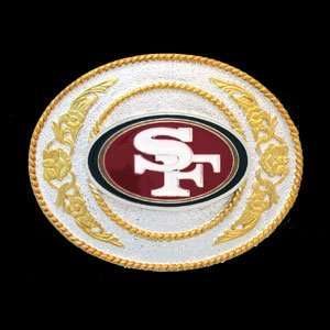 San Francisco 49ers Gold & Silver NFL Belt Buckle Sports & Outdoors