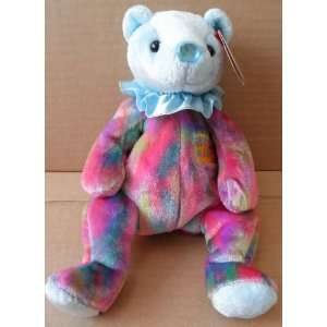 TY Beanie Babies Aquamarine March Birthday Bear Stuffed Animal Plush