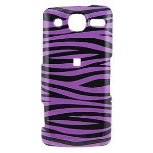 Purple/Black Zebra Snap on Cover for LG eXpo GW820 Electronics