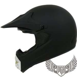 MX ATV Dirt Bike Off Road Helmet (XX Large, Matte Black) Automotive