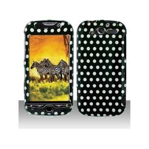 HTC MYTOUCH 4G BLACK WHITE POLKA DOT CASE Cell Phones