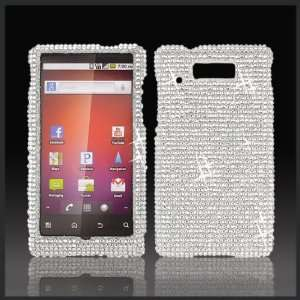 Silver Cristalina crystal bling case cover for Motorola