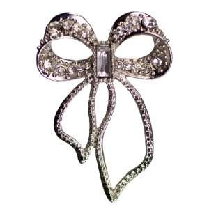 Cousin Jewelry Basics 1 Piece Metal Accent Silver Open Bow