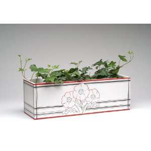 Spring   Gracious Home Collection   Wooden Poppy Window Garden Box