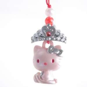 Hello Kitty Charm Mascot    Silver Tierra  Japanese Import