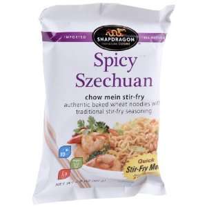 Snapdragon Spicy Szechuan Chow Mein Stir fry, 2.8 Ounce Pouches (Pack