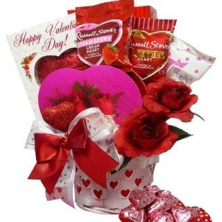 Heart To Heart Valentines Day Gift Basket of Chocolate and Treats