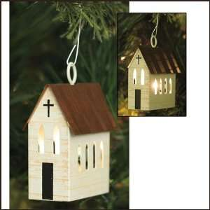 Church Christmas Ornament, Set of 4